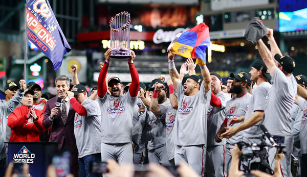Die Washington Nationals haben 2019 die World Series gewonnen.