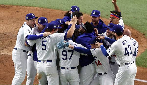 Die Los Angeles Dodgers haben die World Series 2020 gewonnen.