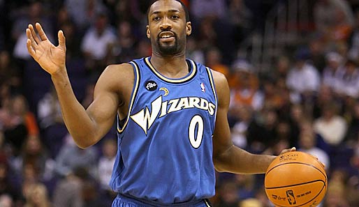 Gilbert Arenas von den Washington Wizards hat Ärger am Hals