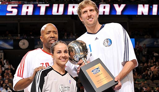 Die Shooting Stars 2010: Kenny Smith, Becky Hammon und Dirk Nowitzki