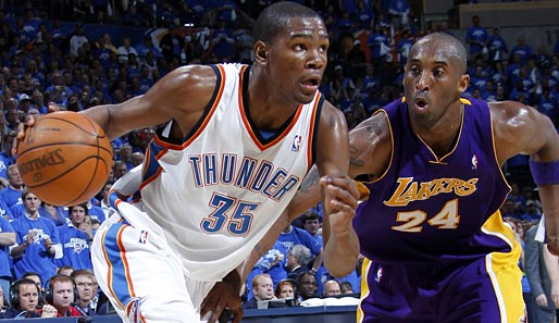 Kevin Durant (l.) wurde 2007 als 2nd Pick von den Seattle Supersonics gedraftet
