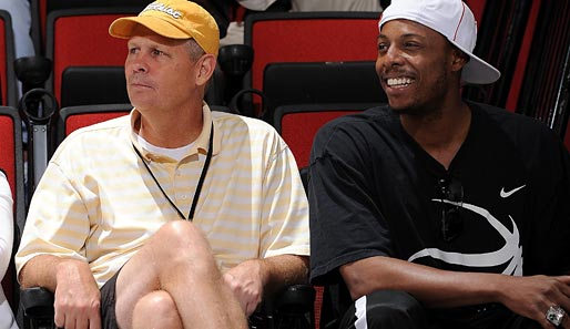 Celtics-General-Manager Danny Ainge und Bostons Finals-MVP-2008 Paul Pierce