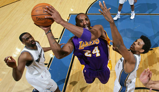 Kobe Bryant erzielte beim Lakers-Sieg in Washington 24 Punkte