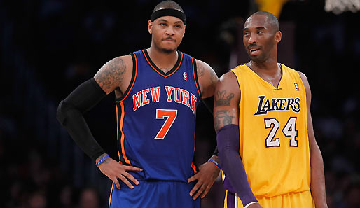 Kobe Bryant besiegte mit seinen Lakers Carmelo Anthonys Knicks