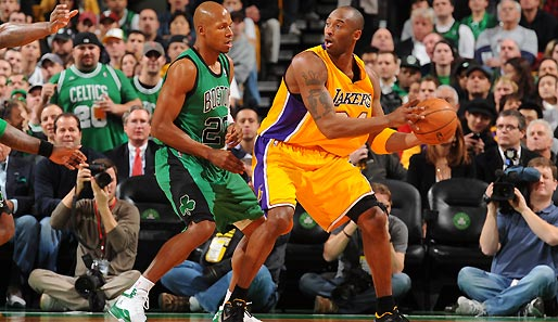 Kobe Bryant war mit 27 Punkten Topscorer beim Lakers-Sieg in Boston
