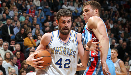 Kevin Love im Duell der Power-Forward-Superstars mit Blake Griffin