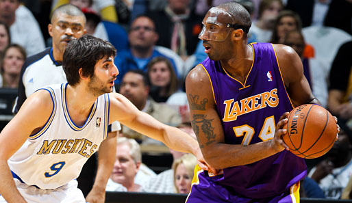 Lakers vs. T-Wolves: Kobe Bryant im Duell mit Ricky Rubio
