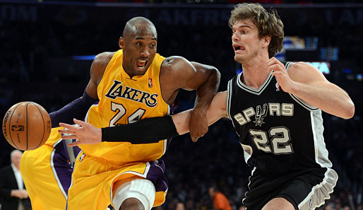 Mögliches Duell in Runde eins: San Antonio Spurs vs. L.A. Lakers