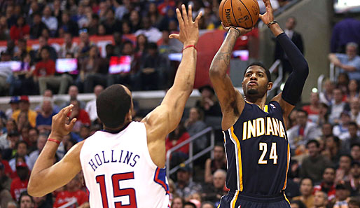 All-Star Paul George zeigte gegen die L.A. Clippers sein gewohnt vielseitiges All-Around-Game.