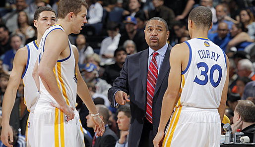 Warriors-Coach Mark Jackson (M.) wurde 1988 Rookie des Jahres in der NBA