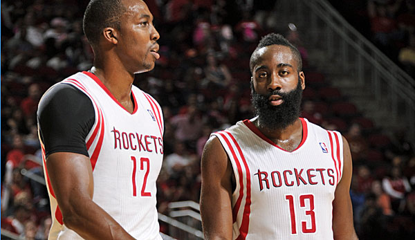 Dwight Howard (l.) und James Harden wollen den Titel nach Houston holen