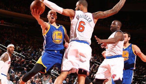 Im Madison Square Garden verbuchte Steph Curry sein drittes Triple-Double der Saison