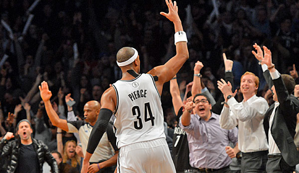 Nets-Forward Paul Pierce versenkte in der Schlussphase einen wichtigen Dreier