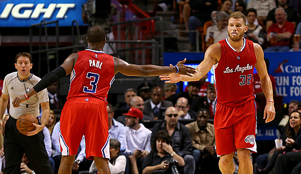 Point Guard Chris Paul (l.) und Forward Blake Griffin sind die Superstars der Clippers
