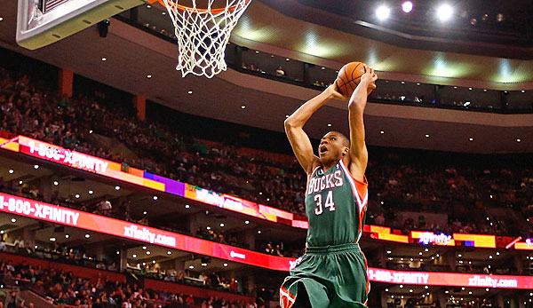Giannis Antetokounmpo vertritt die Milwaukee Bucks beim Slam-Dunk-Contest