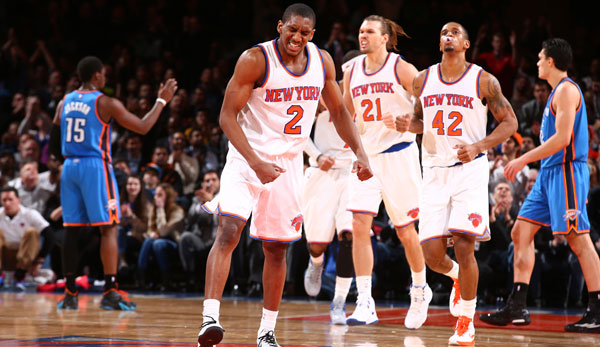 Langston Galloway (l.) stieß erst im Januar zu den New York Knicks