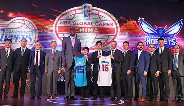 NBA-Legende Dikembe Mutombo war bei der Bekanntgabe in China vor Ort
