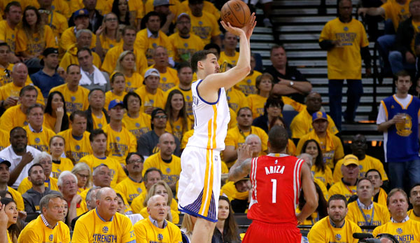 Klay Thompson steht mit den Warriors erstmals in den Finals