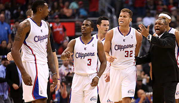 DeAndre Jordan, Chris Paul, Blake Griffin, Doc Rivers - der Kern der Clippers