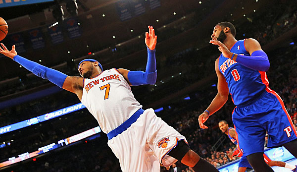 Carmelo Anthony zieht im All-Star-Voting an Andre Drummond (r.) vorbei