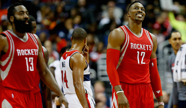 Weiter in einem Team: James Harden (l.) und Center Dwight Howard