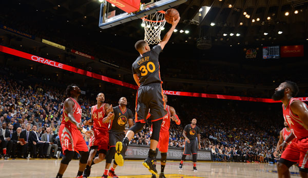 Stephen Curry lieferte sich in Houston ein Scoring-Duell mit James Harden