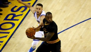 LeBron James stellte Stephen Curry mit 41 Punkten in den Schatten
