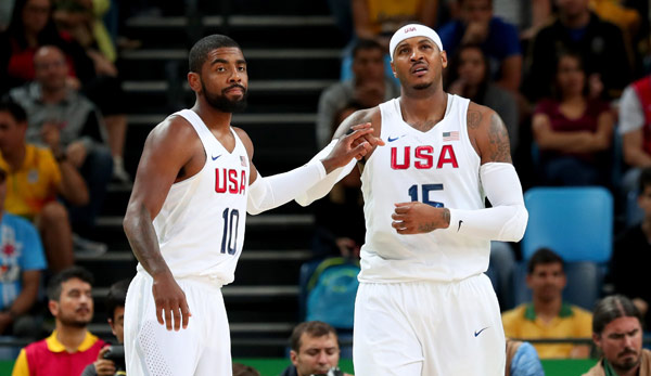 Carmelo Anthony mit Kyrie Irving