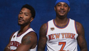 "Carmelo Anthony und Derrick Rose bilden den Kern des neuen ""Super-Teams"" in New York"