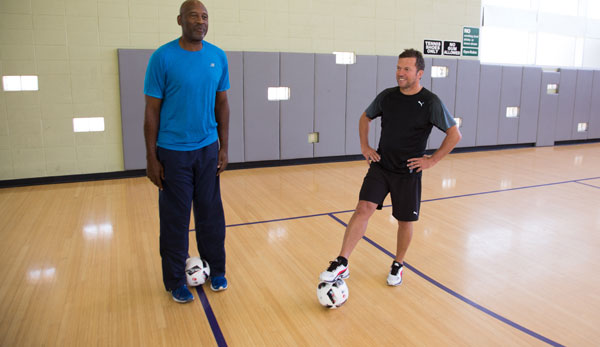 Lothar Matthäus traf Lakers-Legende James Worthy