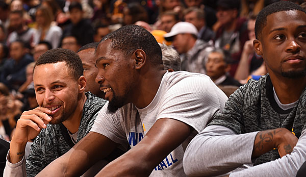 Stephen Curry fand die Buhrufe gegen Kevin Durant lustig
