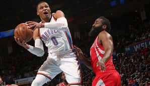 Russell Westbrook legte sein siebtes Triple Double in Folge auf