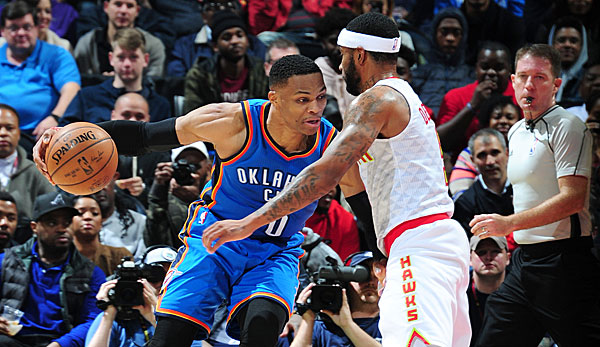 Russell Westbrook legte sein sechstes Triple-Double in Folge auf