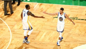 Andre Iguodala und Stephen Curry