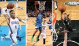 Russell Westbrook, Andrew Wiggins und Giannis Antetokounmpo