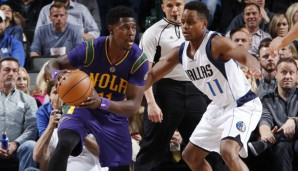 Jrue Holiday (l.) wird nach der Saison Unrestricted Free Agent