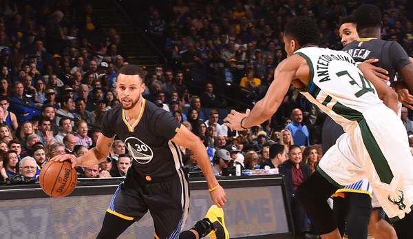 Stephen Curry stellte Giannis Antetokounmpo in den Schatten