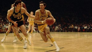 Jerry West stand mit den Los Angeles Lakers neunmal in den Finals