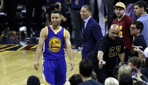 Tyronn Lue und Stephen Curry