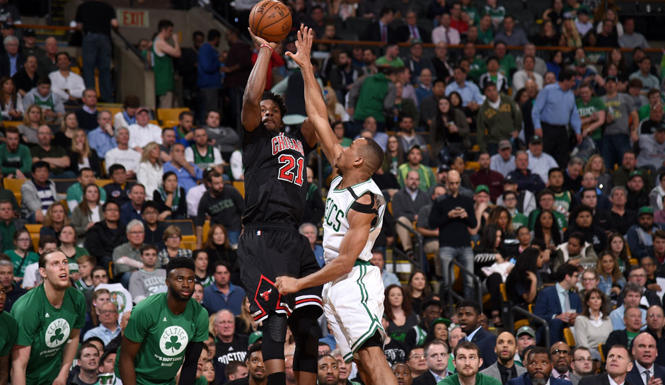Jimmy Butler (Chicago Bulls, Guard, 102 Punkte): 23,9 Punkte, 6,2 Rebounds, 5,5 Assists