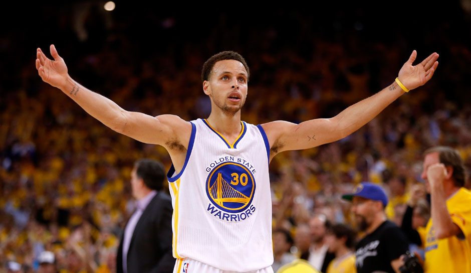 Stephen Curry (Golden State Warriors, Guard, 290 Punkte): 25,3 Punkte, 6,6 Assists