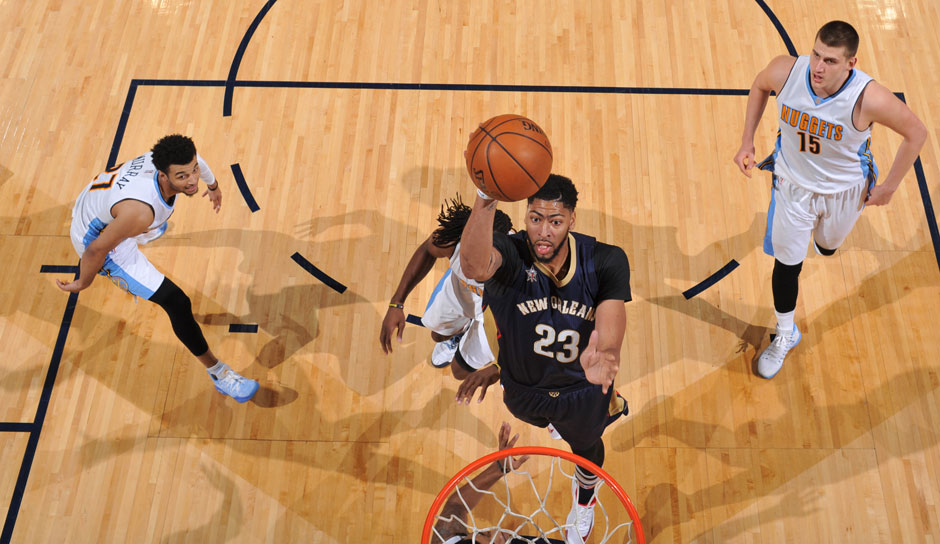 Anthony Davis (New Orleans Pelicans, Center, 343 Punkte): 28 Punkte, 11,8 Punkte