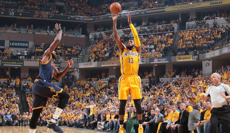 Paul George (Indiana Pacers, Forward, 40 Punkte): 23,7 Punkte, 6,6 Rebounds