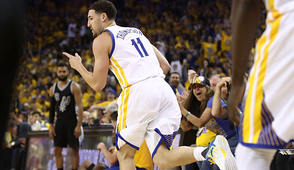 Klay Thompson (Golden State Warriors, Guard, 14 Punkte): 22,1 Punkte, 3,1 Rebounds
