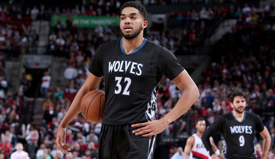 Karl-Anthony-Towns (Minnesota Timberwolves, Center, 50 Punkte): 25,1 Punkte, 12,3 Rebounds