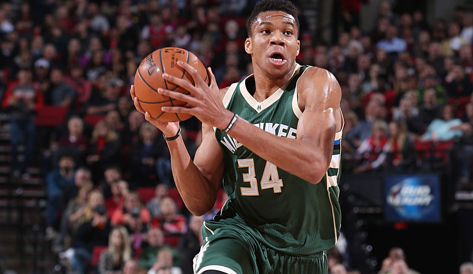 MOST IMPROVED PLAYER: Giannis Antetokounmpo (Milwaukee Bucks): 22,9 Punkte, 8,7 Rebounds, 5,4 Assists