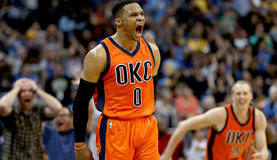 Russell Westbrook (Oklahoma City Thunder): 31,6 Punkte, 10,7 Rebounds, 10,4 Assists