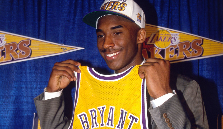 Kobe Bryant (L.A. Lakers, 1996/97): 7,6 Punkte, 1,9 Rebounds