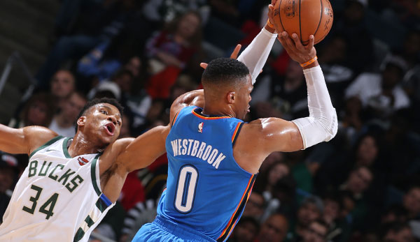 Giannis Antetokounmpo und Russell Westbrook