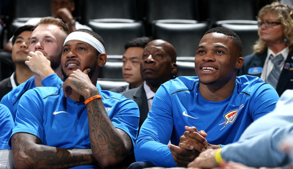Carmelo Anthony und Russell Westbrook